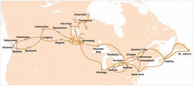 Allstream Network Area Map