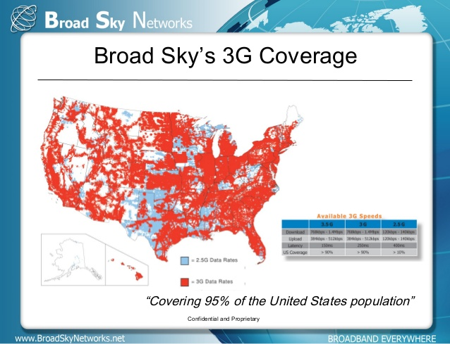 Broad Sky Network Area Map
