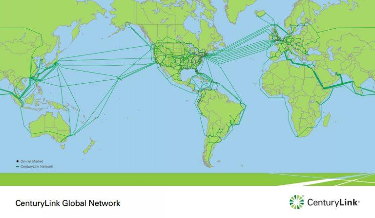 CenturyLink Network Area Map