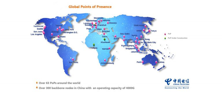 China Telecom Network Area Map