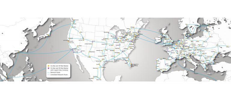 Cogent Network Area Map