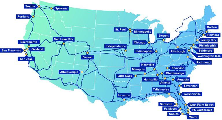 Comcast Fiber Network Map