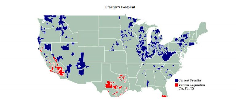 Frontier Network Area Map