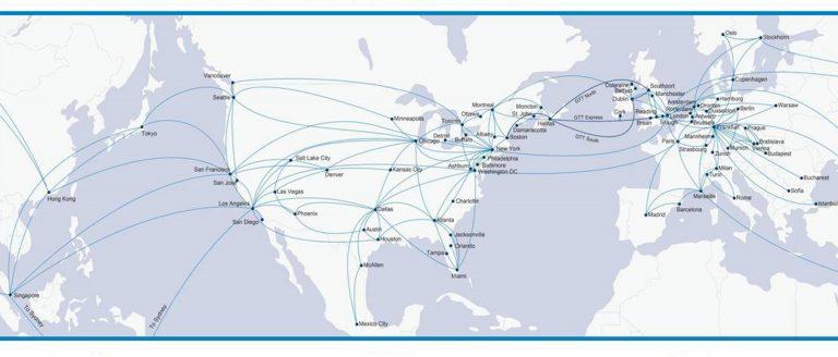 GTT Network Area Map