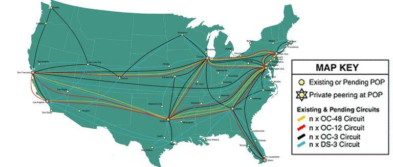 Intermedia Network Area Map