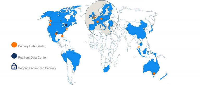 Mitel Network Area Map
