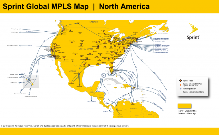 Sprint North America Network Area Map