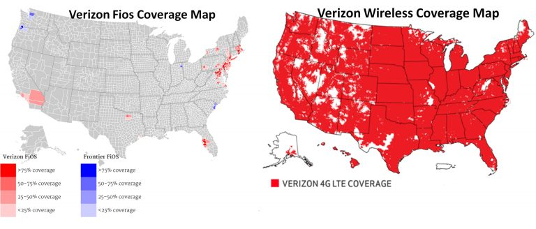 Verizon Network Area Map