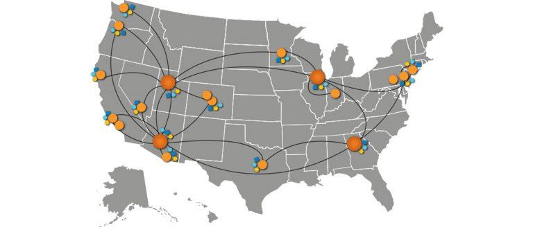 Vonage Network Area Map
