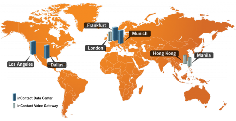 incontact network area map