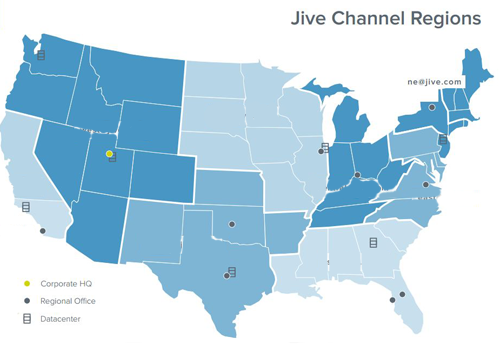Jive Network Area Map