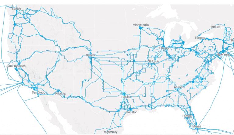 lumen network area map